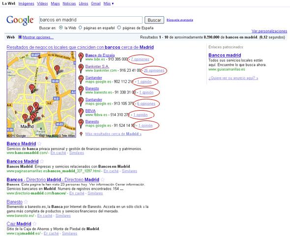 google bancos