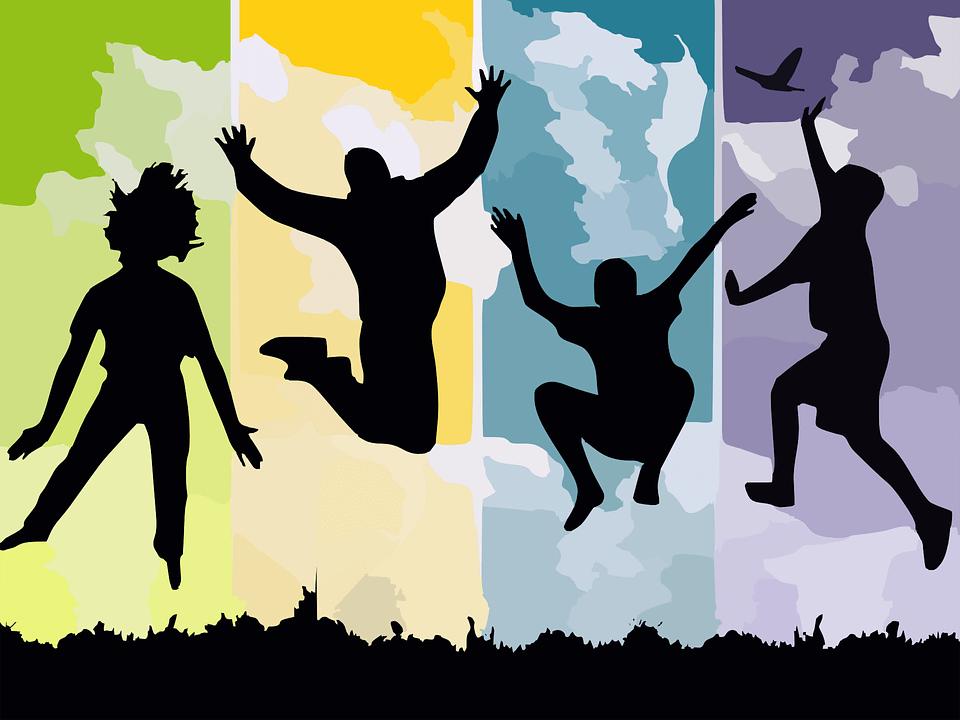 siluetas-de-personas-saltando